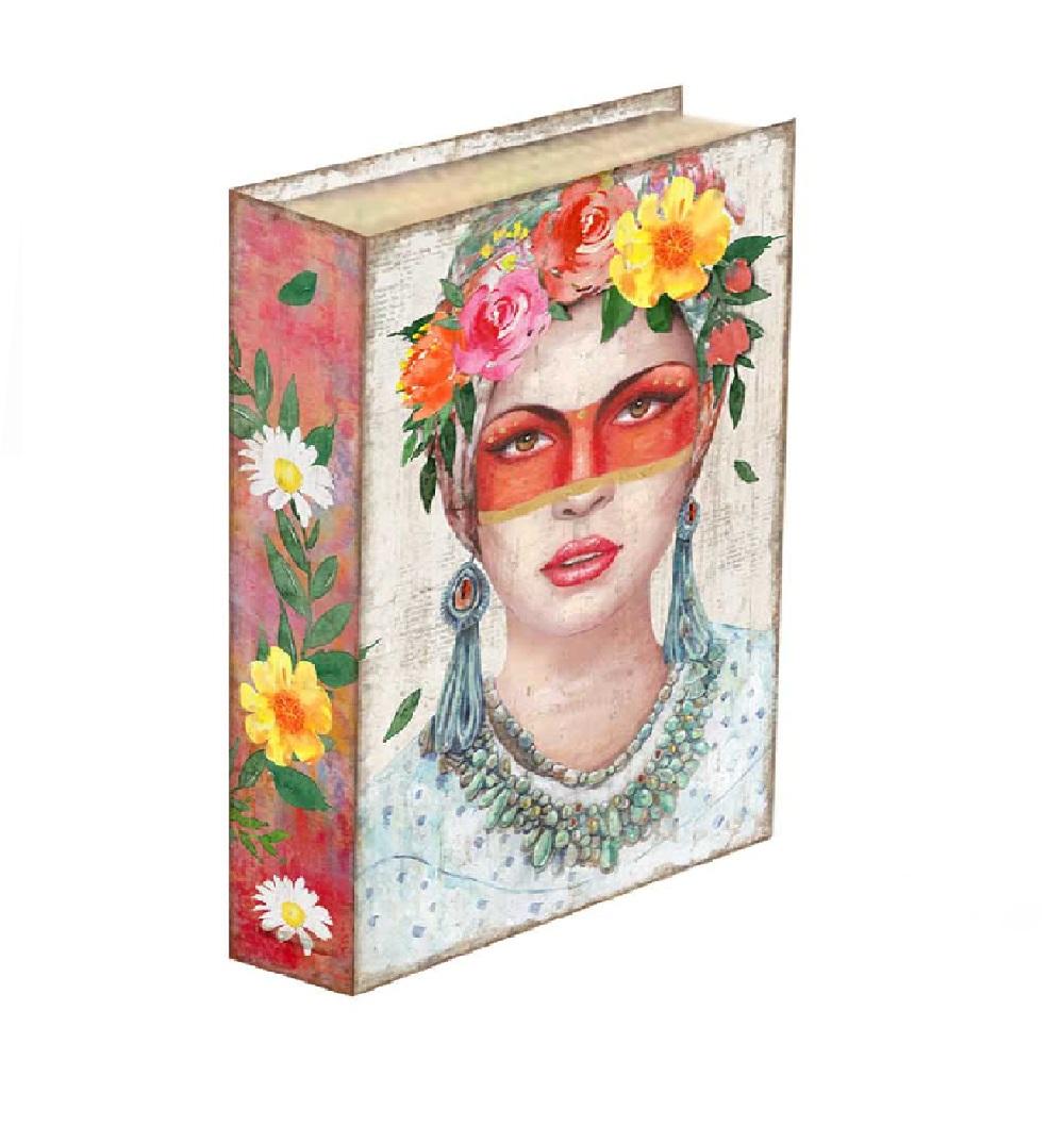 Caixa Livro Mulher Mexicana 30x24x5cm