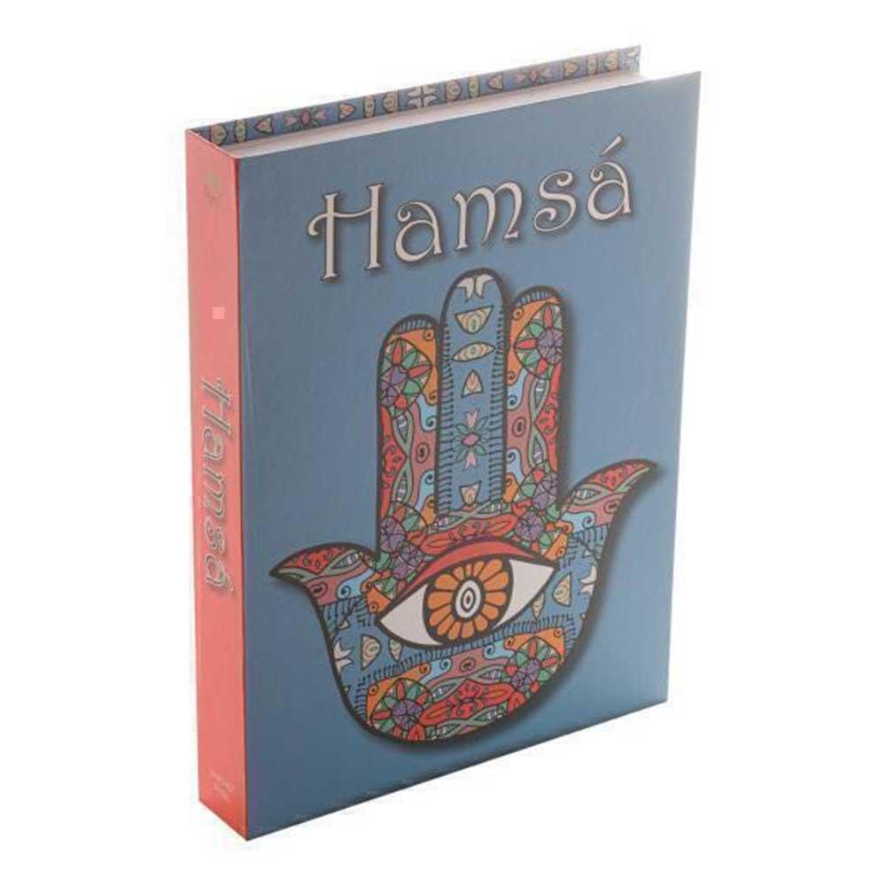 Caixa Livro Papel Rígido Hamsa Colorido 36x27x5cm