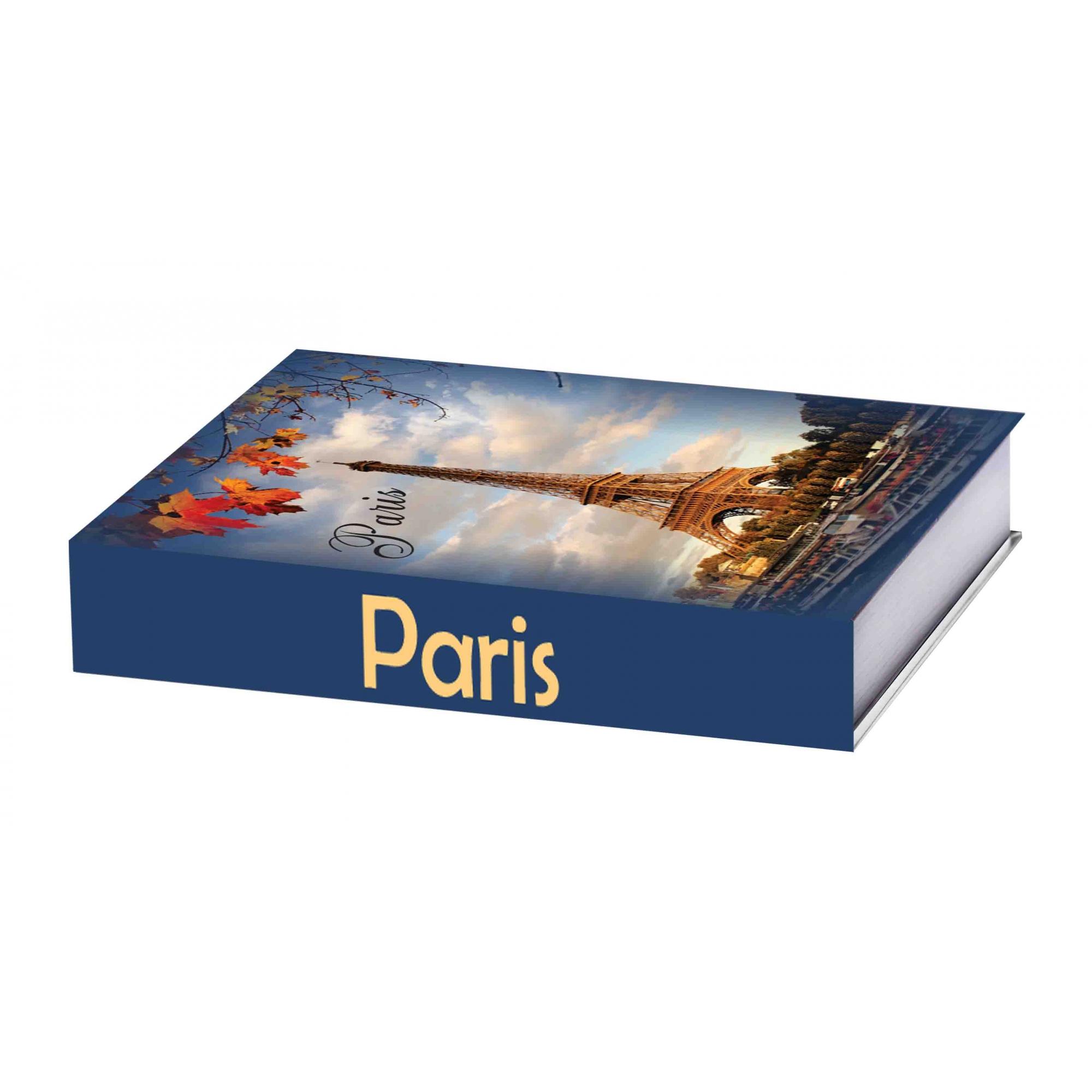 Caixa Livro Paris Outono 25X18X4,5cm