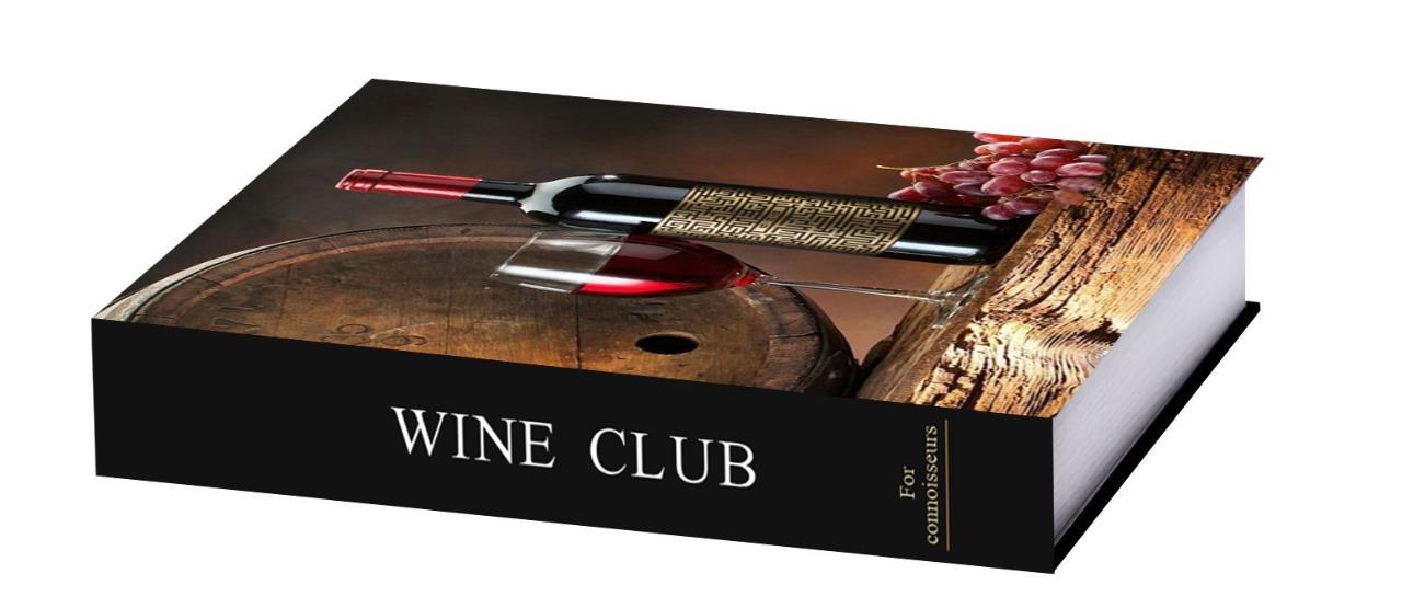 Caixa Livro Vinho 32x25x5cm