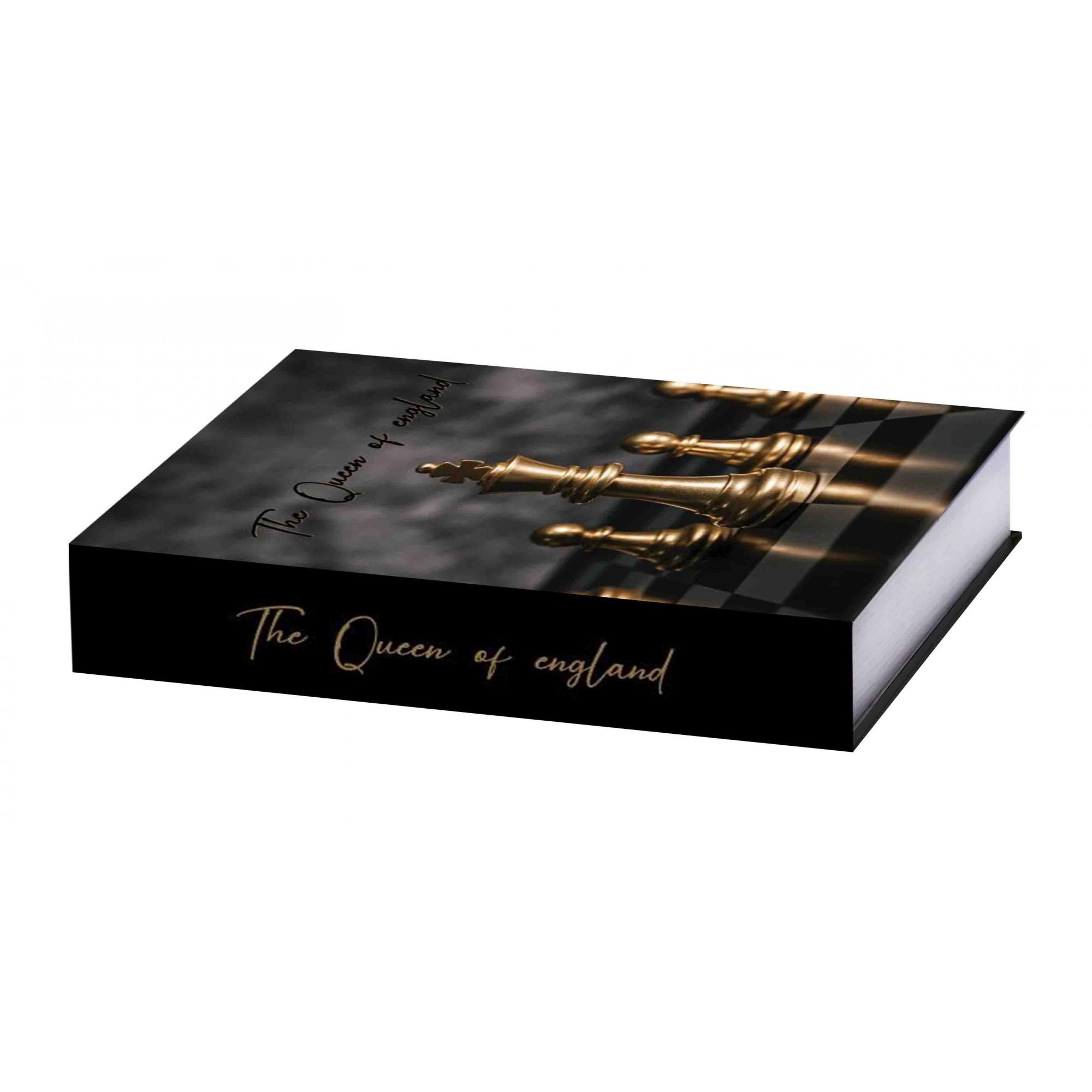 Caixa Livro Xadrez 25X18X4,5cm