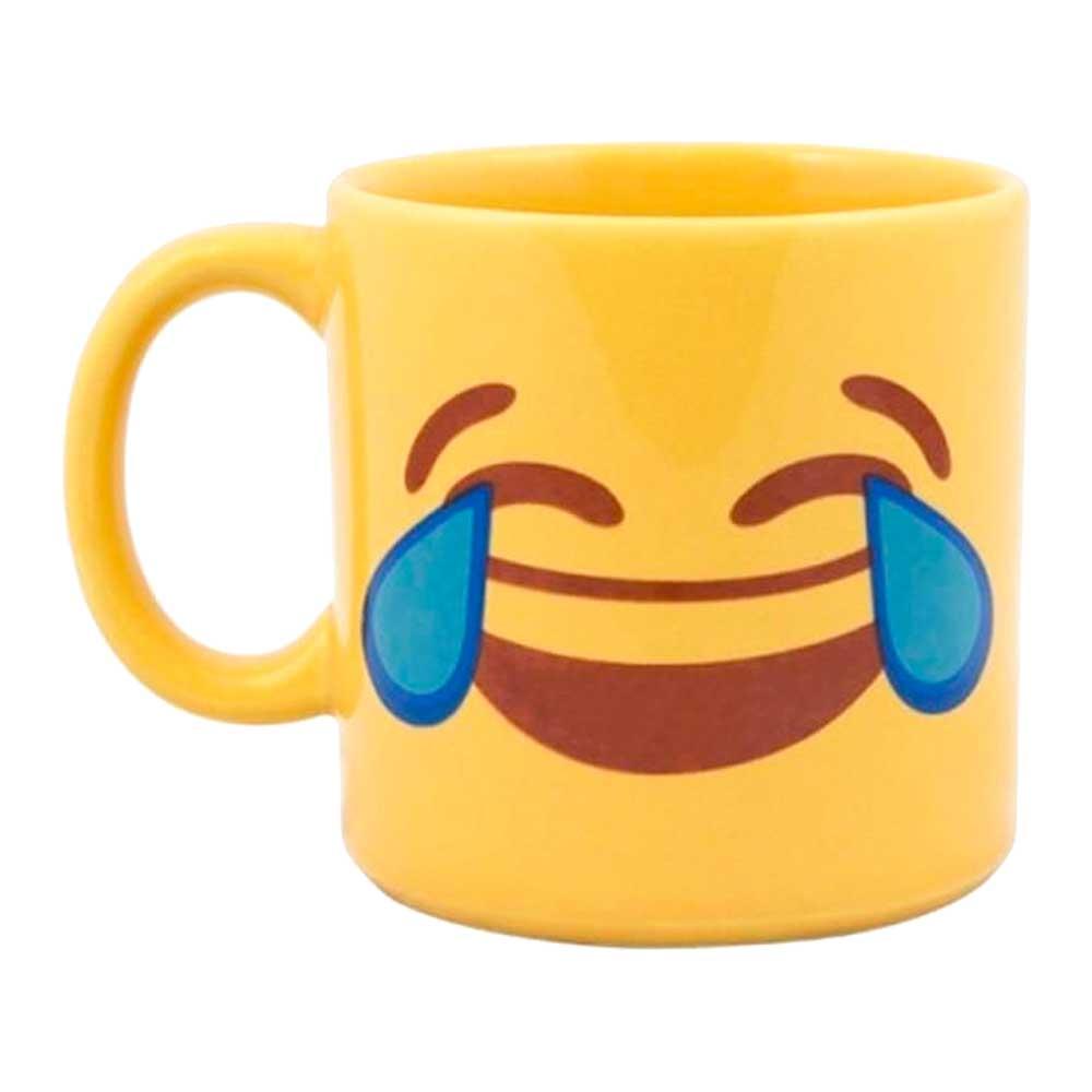 Caneca Amarela Emoji Risos 300ml