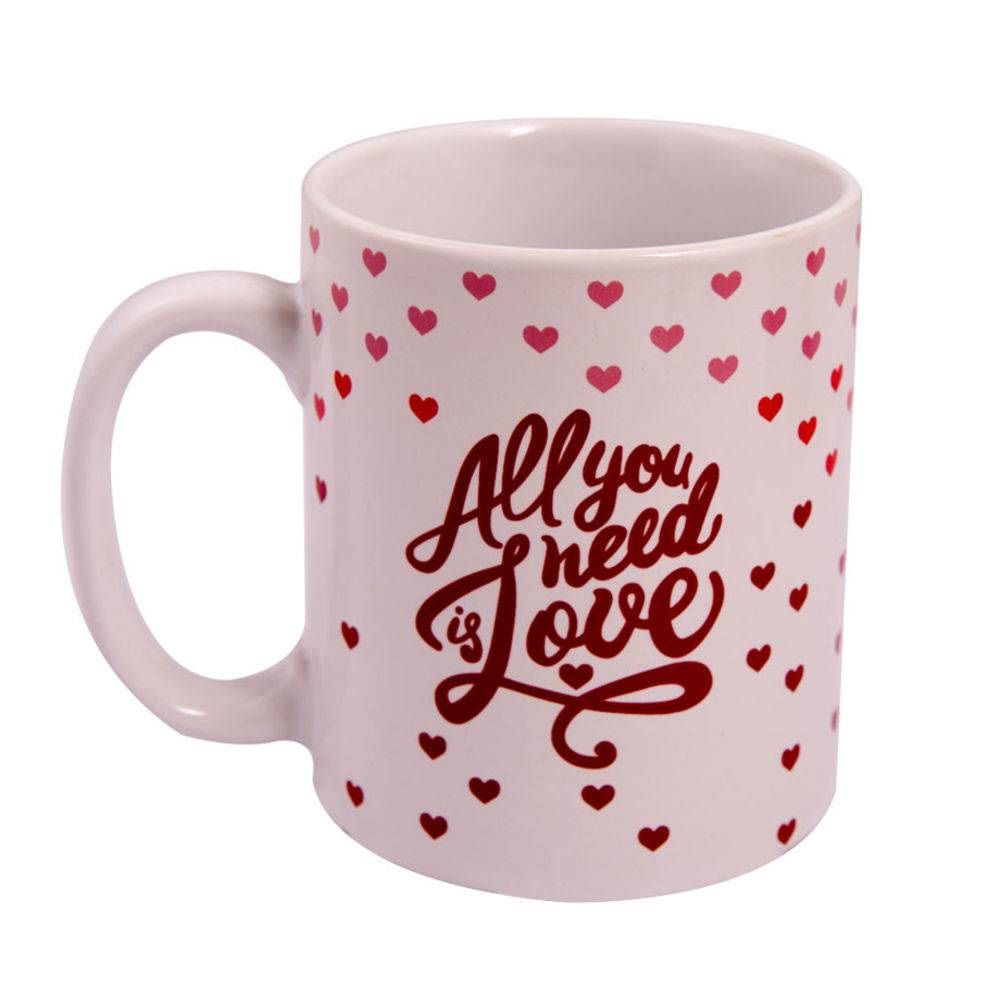 Caneca Cilíndrica All You Need Is Love 300ml