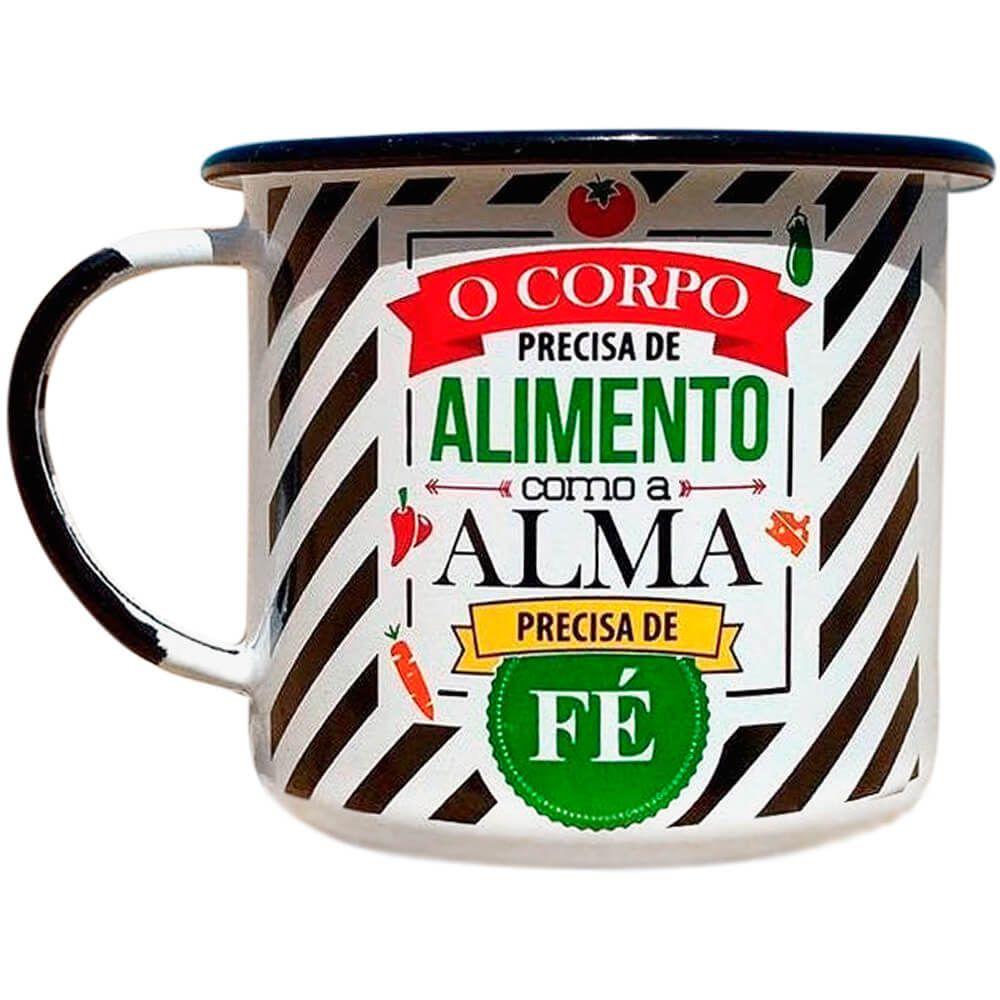 Caneca Esmaltada 300ml Linha Gourmet