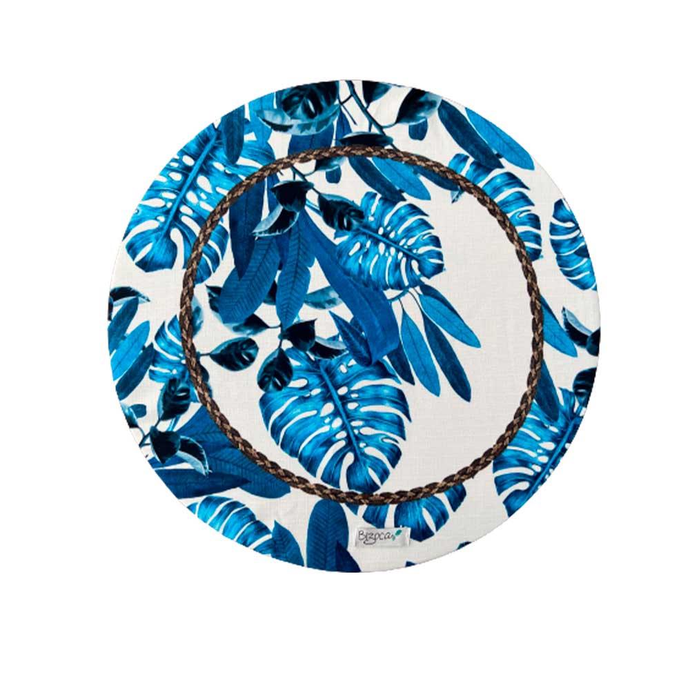 Capa para Sousplat Costela de Adão Azul 35cm