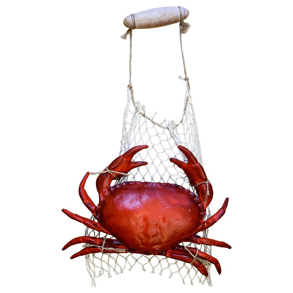 Caranguejo Decorativa em Resina