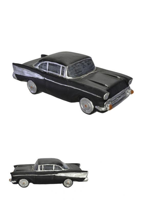 Carro Miniatura Decorativo em Resina Preto