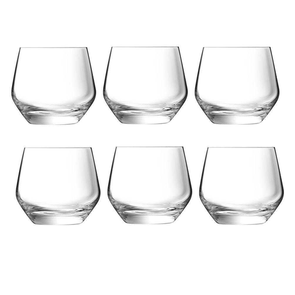 Conjunto 6 copos para Whisky em Cristal 350ml