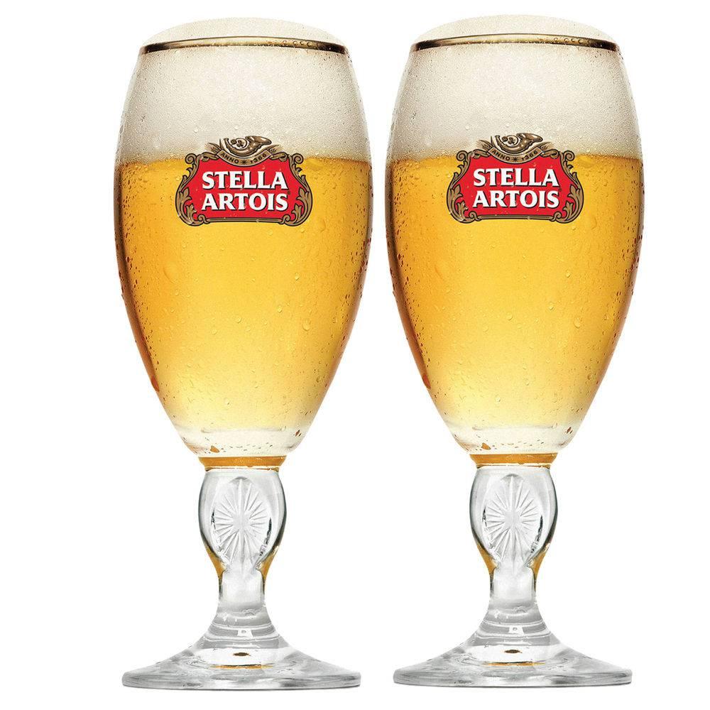 Conjunto com 2 Taças Stella Artois de 250ml