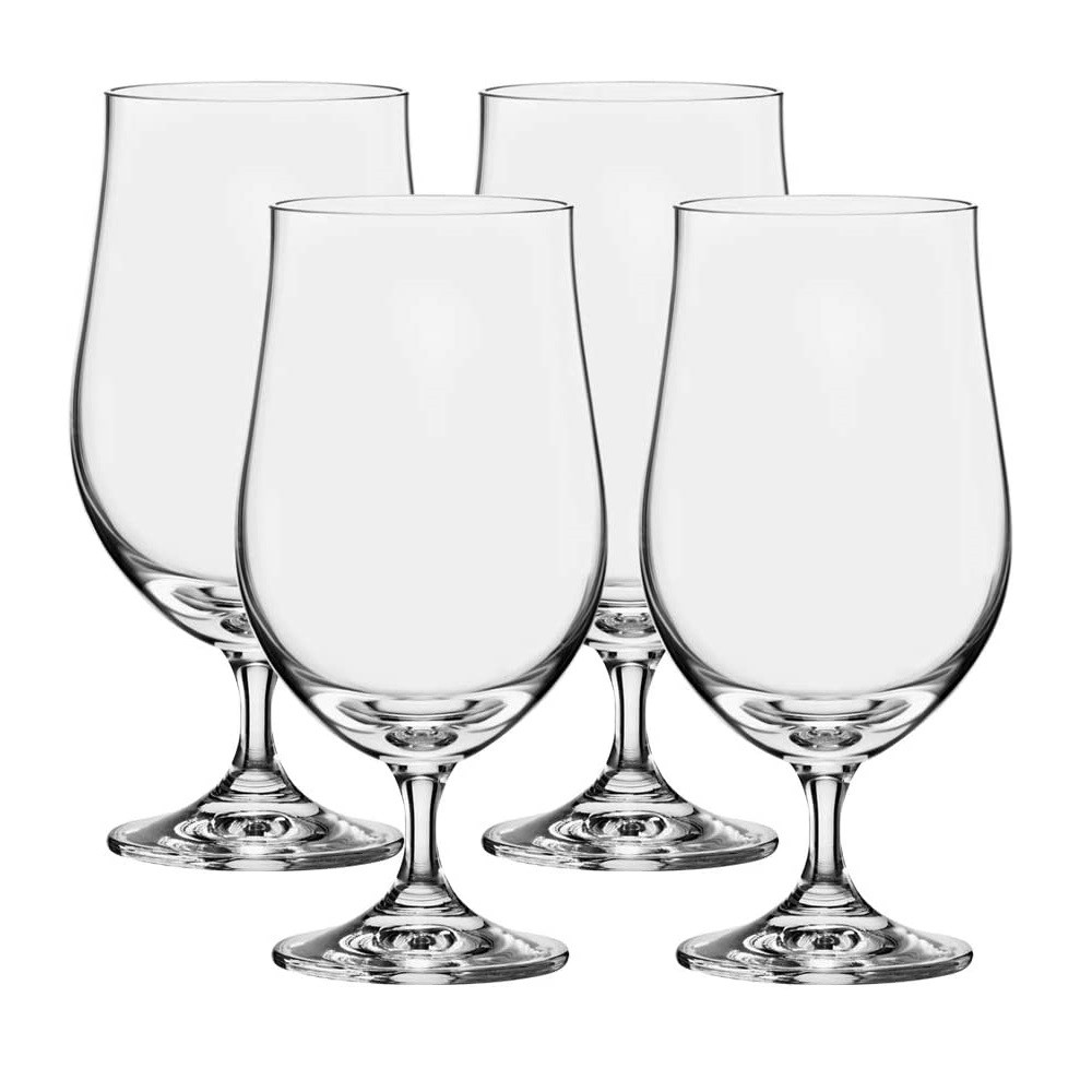 Conjunto com 4 Taças Tulipa Bar Beer Cristal Bohemia de 380ml