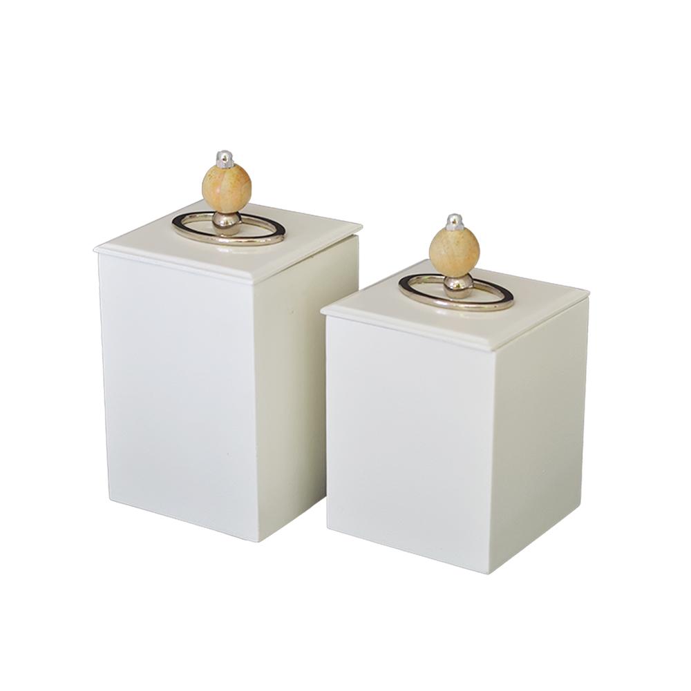 Conjunto de 2 Caixa Auê Branco