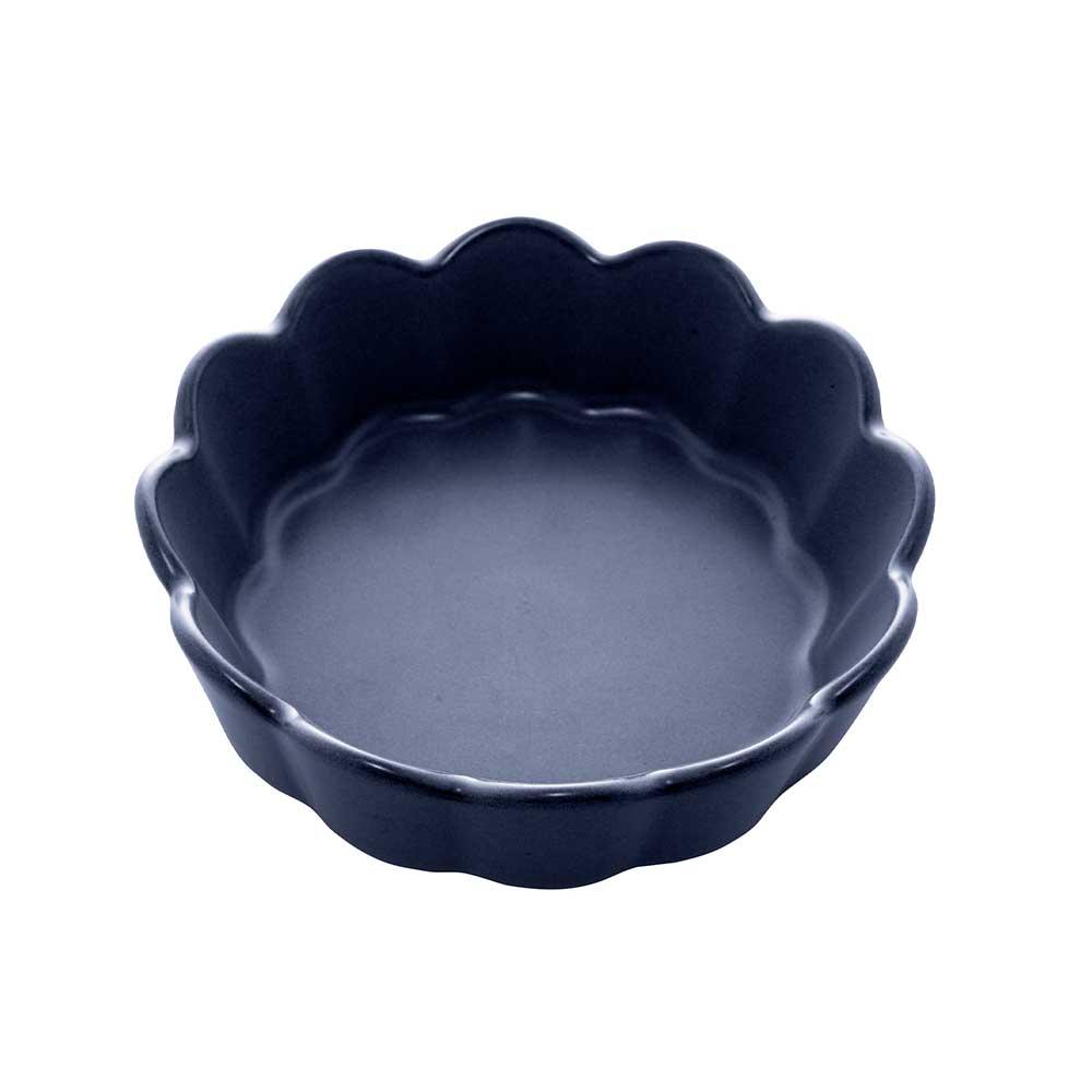 Conjunto de 3 Bowls Cerâmica Nórdica Azul Escuro Matt 15x5cm