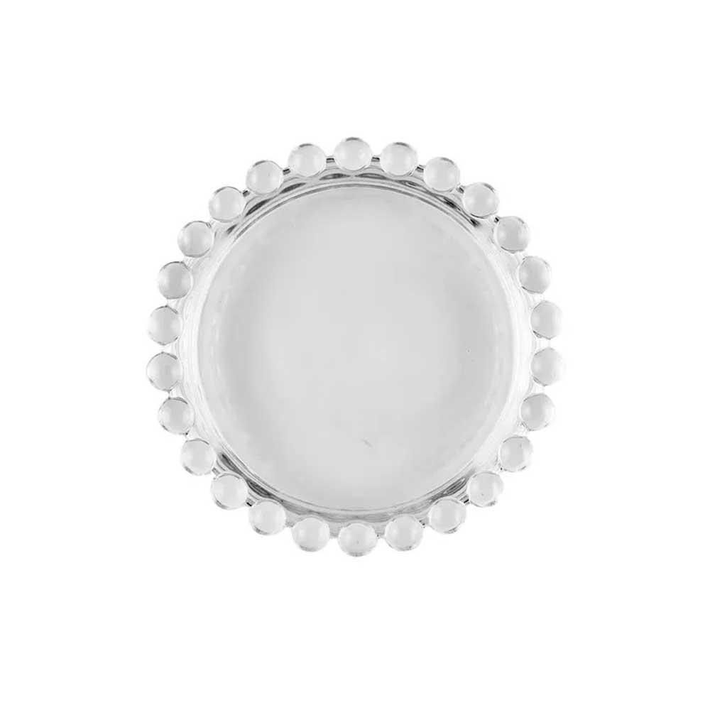 Conjunto de 4  Mini Pratos de Cristal Pearl 10cm