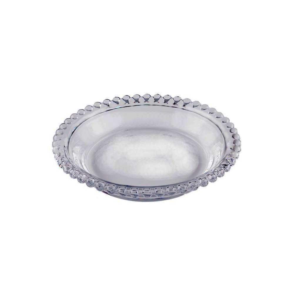 Conjunto de 4 Mini Pratos de Cristal Pearl 14cm