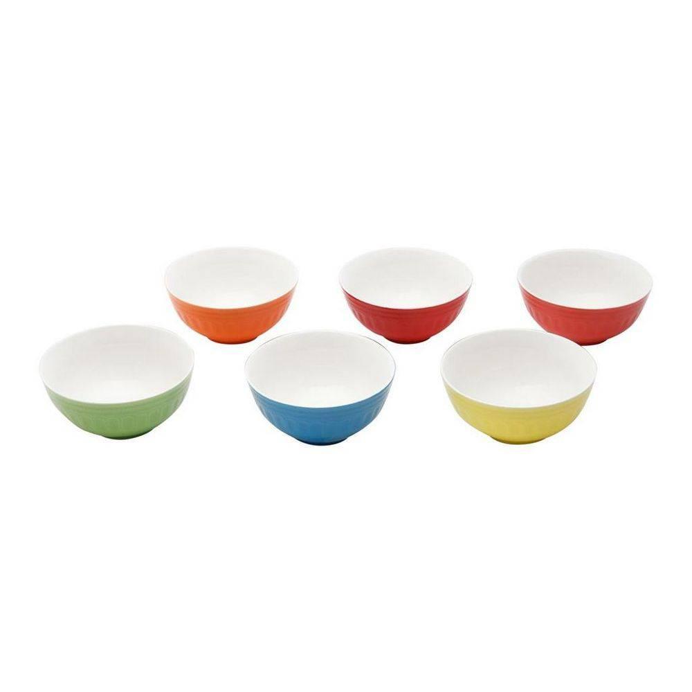 Conjunto de 6 Bowls Cerâmica Coloridos Mary 13cm Bon Gourmet