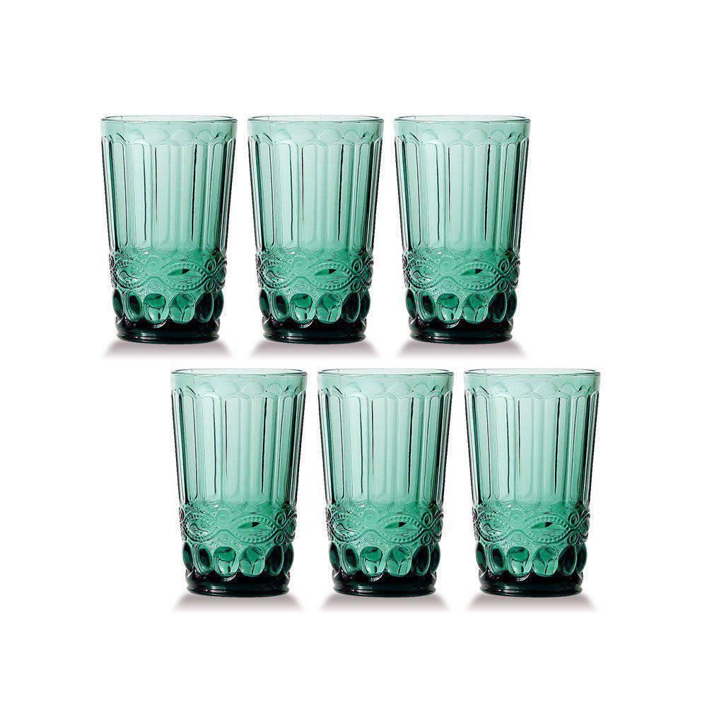 Conjunto de 6 Copos de Água Elegance - Tifanny 330ml