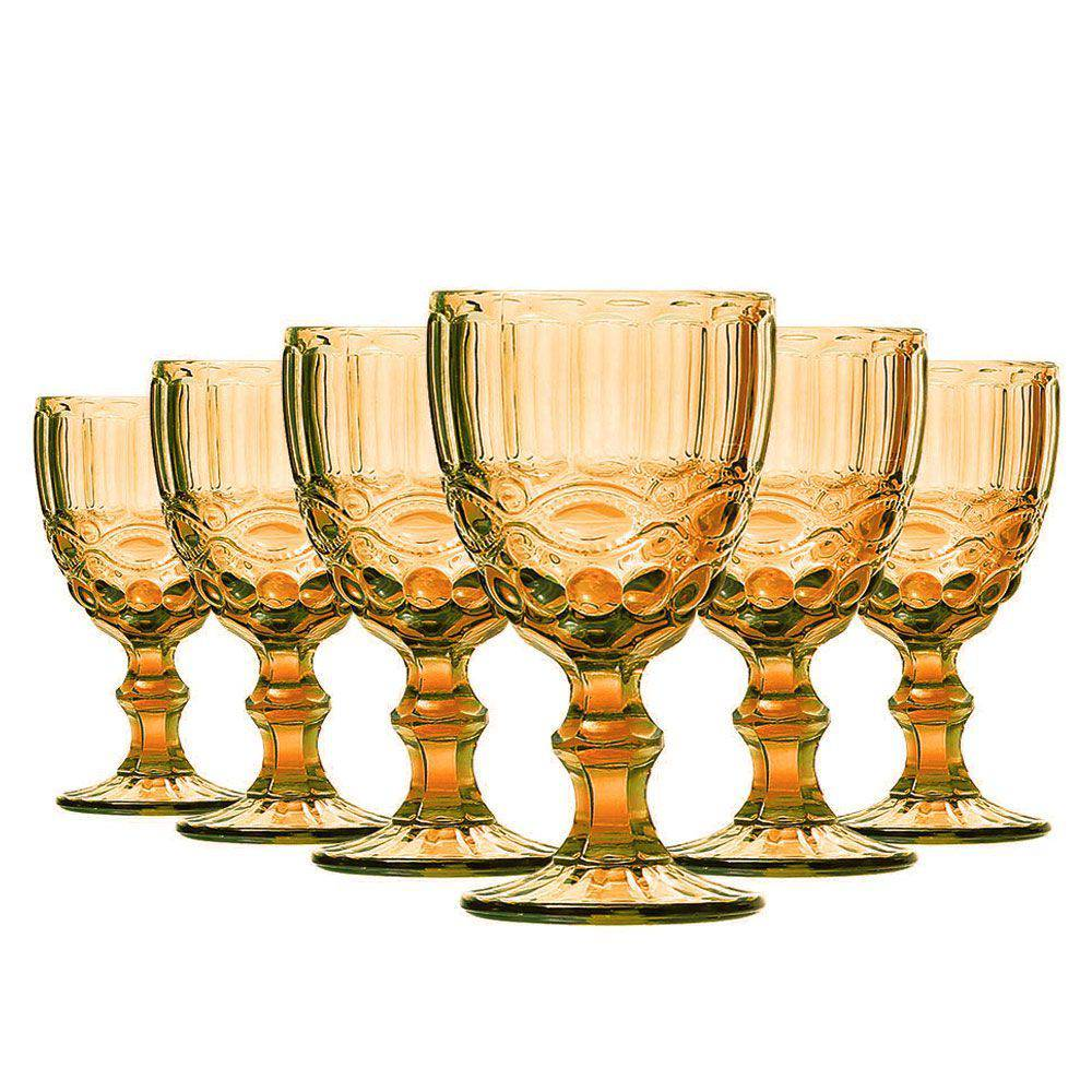 Conjunto de 6 Taças de Água Elegance - Amber 270ml