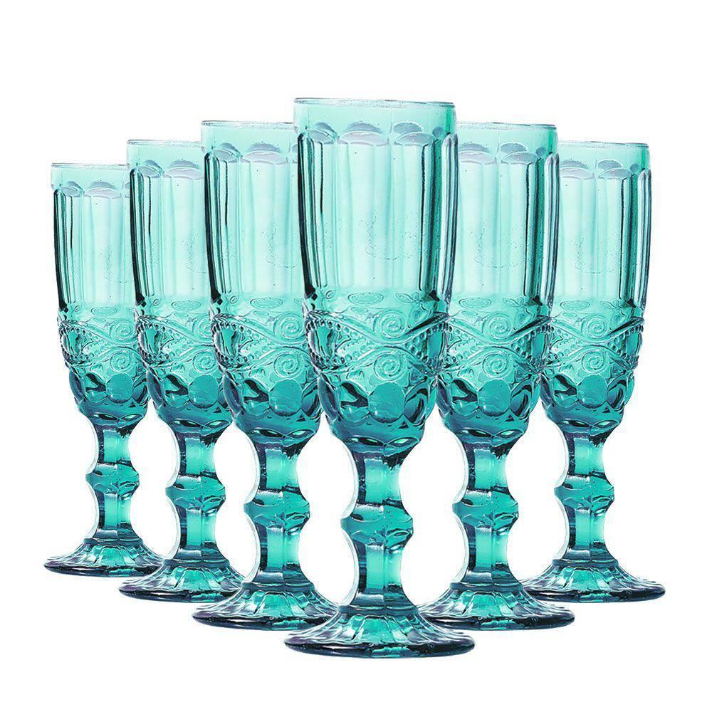 Conjunto de 6 Taças de Champangne Elegance - Tifanny 140ml