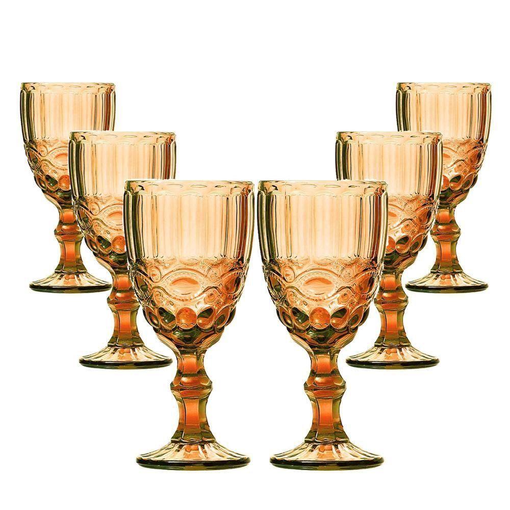Conjunto de 6 Taças de Vinho Elegance - Amber 210ml