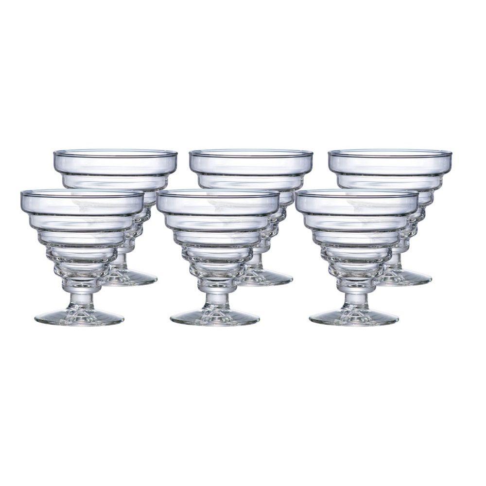 Conjunto de 6 Taças de Sobremesa Transparente 350ml - Etore