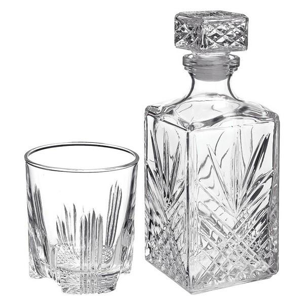 Conjunto para Whisky/Licor 7 peças em Vidro Transparente