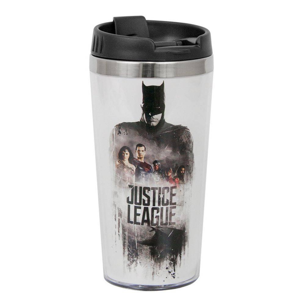 Copo 500ml Térmico de Plástico Liga da Justiça Filme