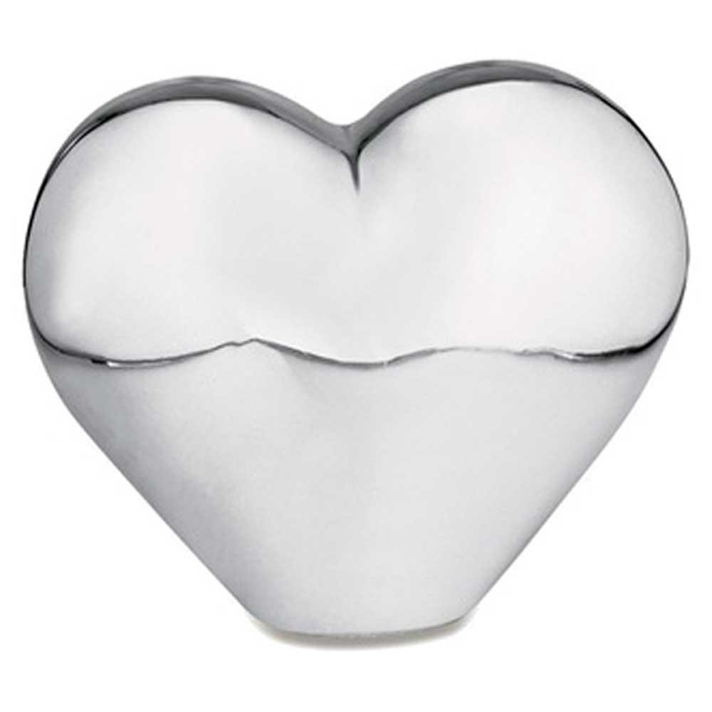 Coração Decorativo em Cerâmica Prata