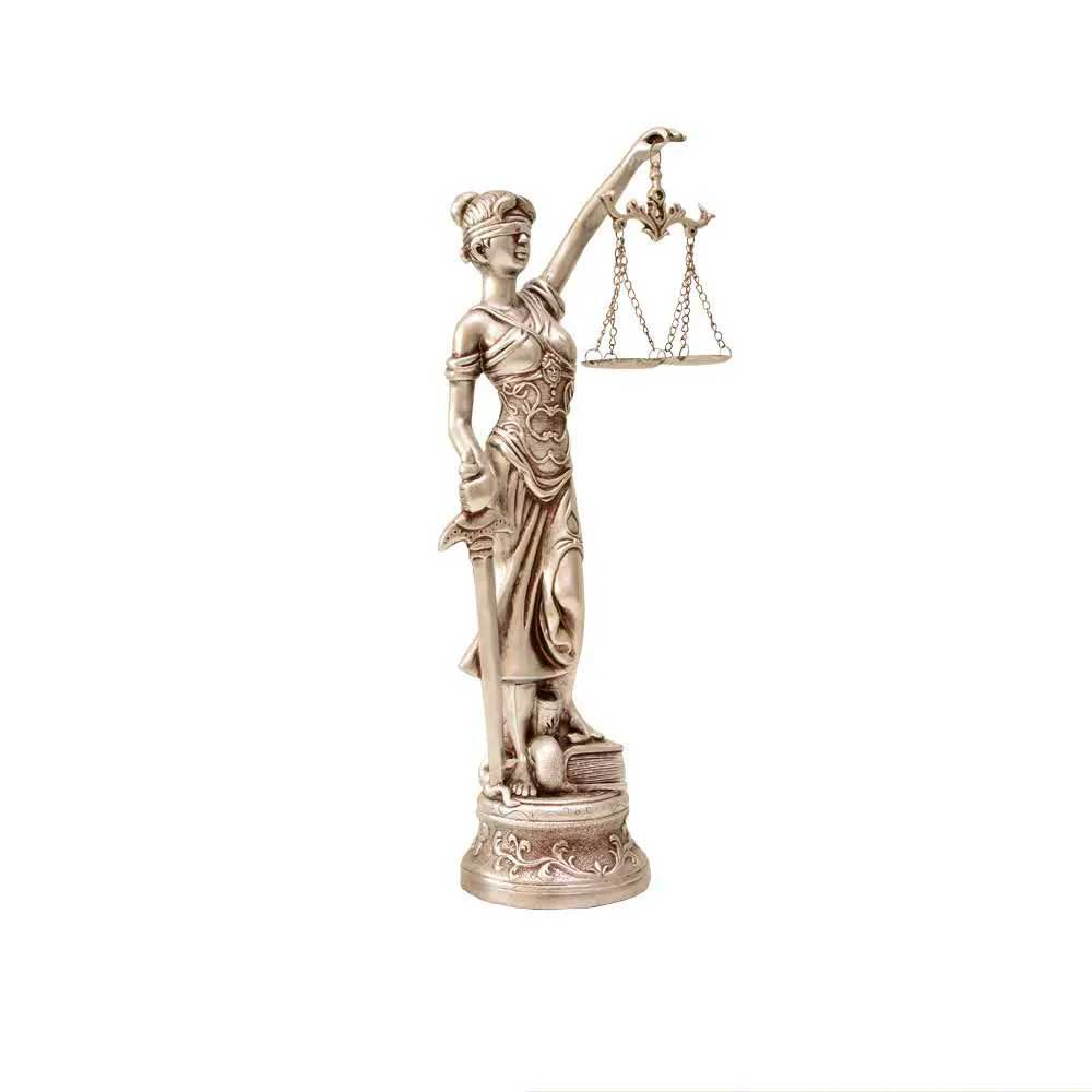 Deusa da Justiça Prata 31cm