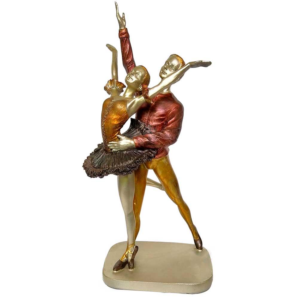 Escultura Casal de Bailarinos em Resina 31cm