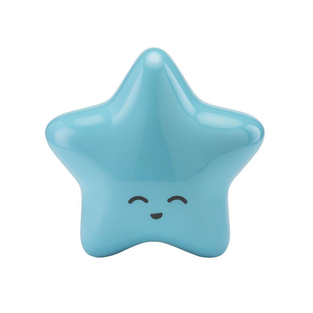 Estrela Decorativa Laqueada Azul