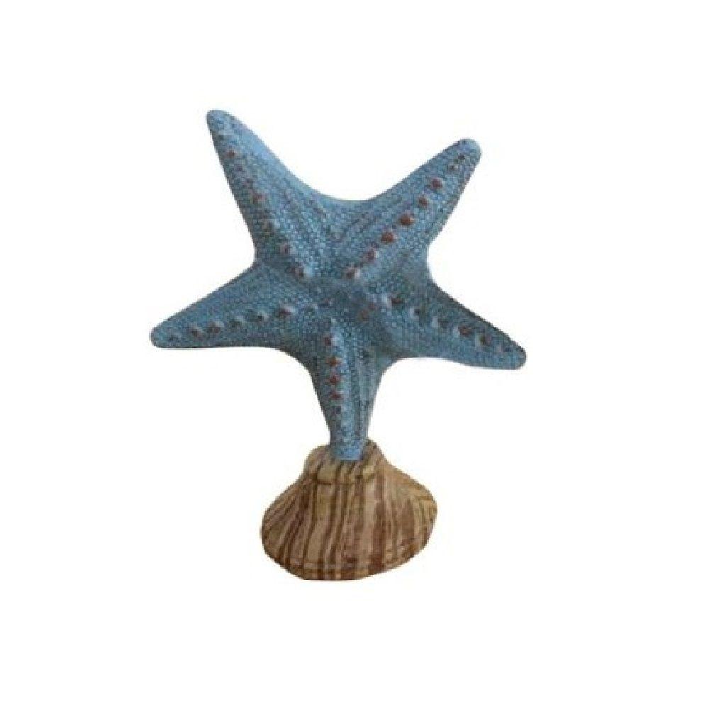 Estrela do Mar Decorativa em Resina Azul 18cm