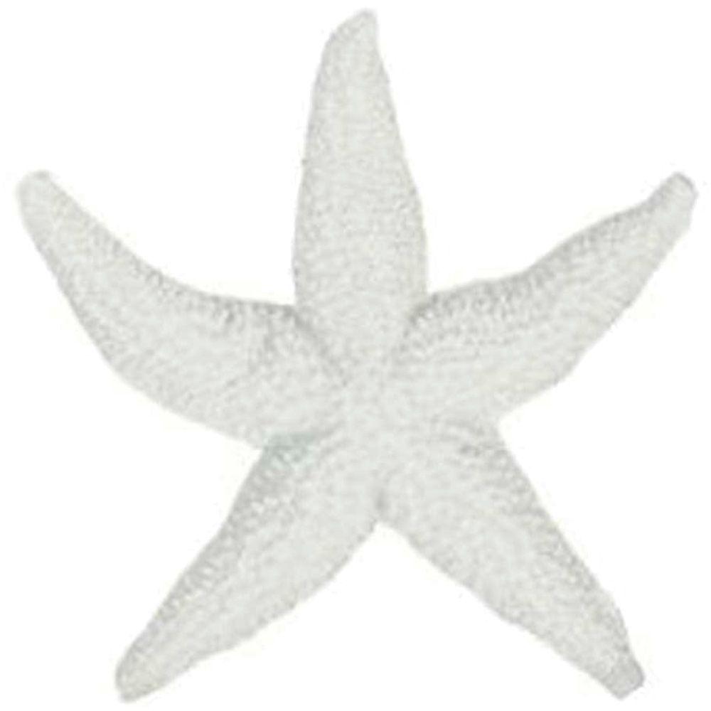 Estrela do Mar Decorativa em Resina Branco