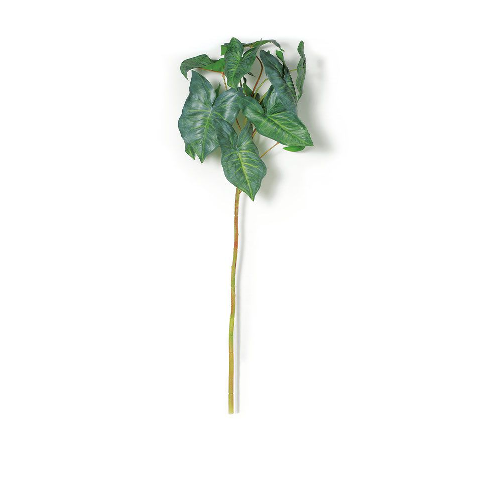 Folhagem Artificial de Caladium Verde 80cm