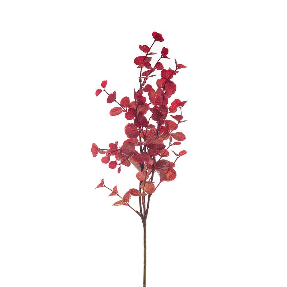 Folhagem Artificial X3 Galhos Vermelho 50cm