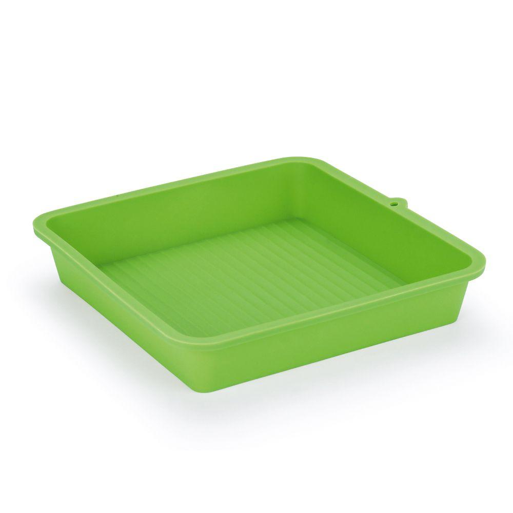 Forma em Silicone Quadrada Verde 22cm