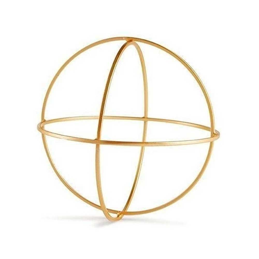 Forma Geométrica Dourada em Metal