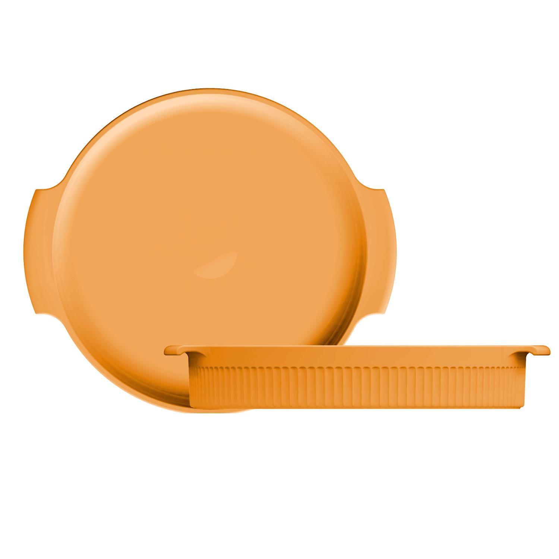 Forma Redonda Porcelana Amarela 25cm