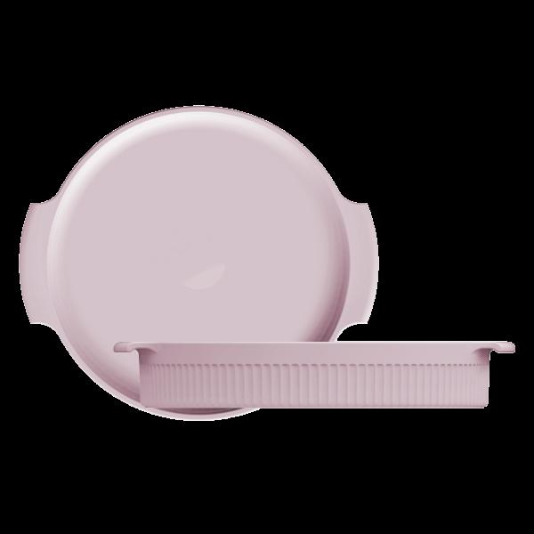 Forma Redonda Rosa Fractal 25cm Germer Porcelanas