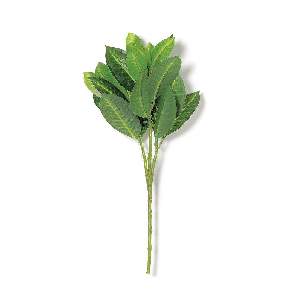 Galho Artificial de Folhas Verdes 43cm