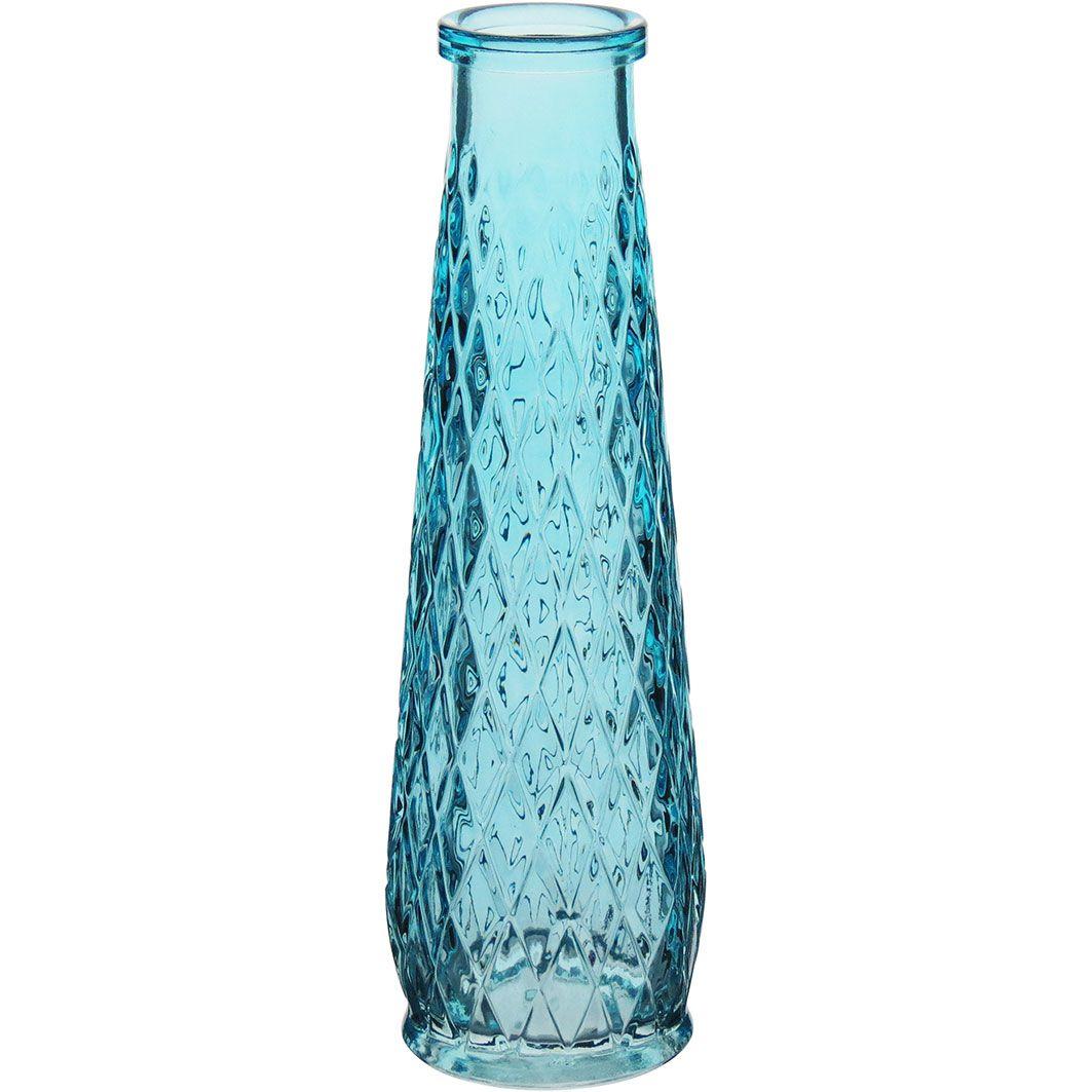 Garrafa Decorativa em Vidro Eartha 22cm Azul Claro