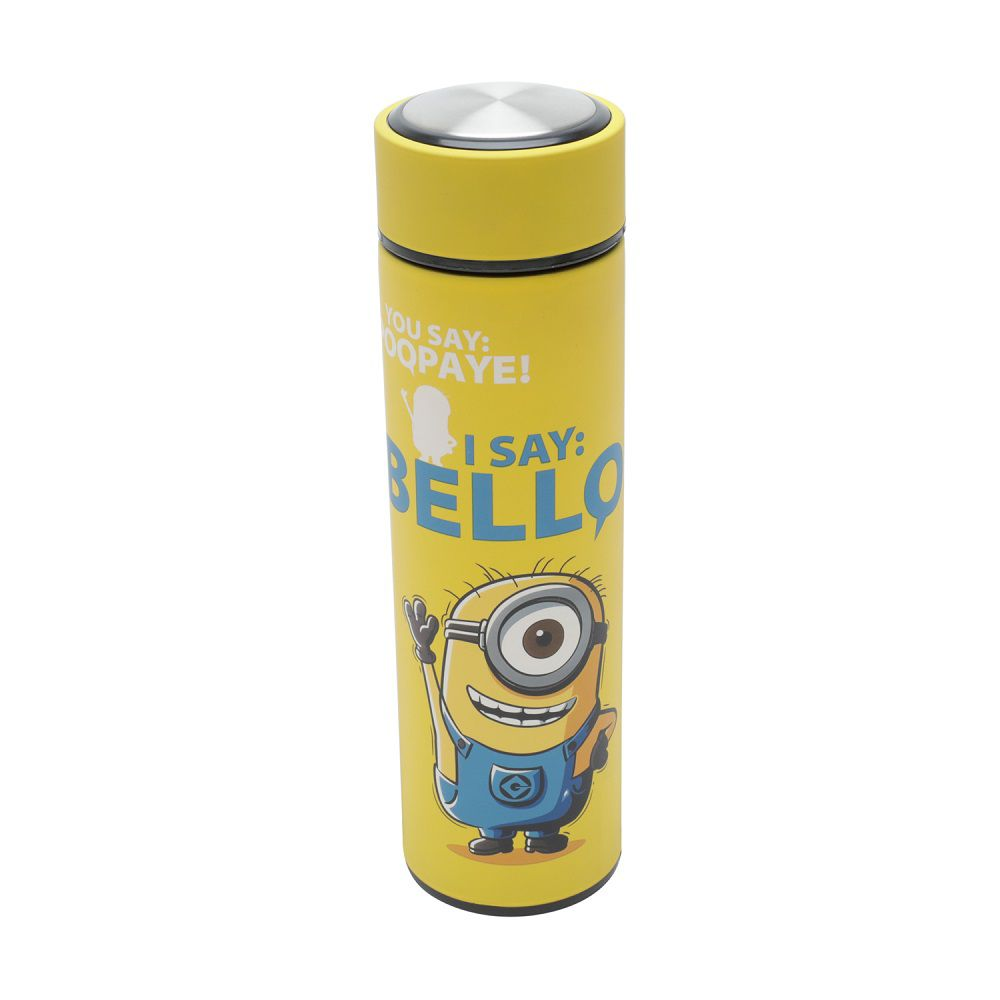 Garrafa Térmica de Aço Inox com Filtro Rubber Touch UVL Minions 500ml