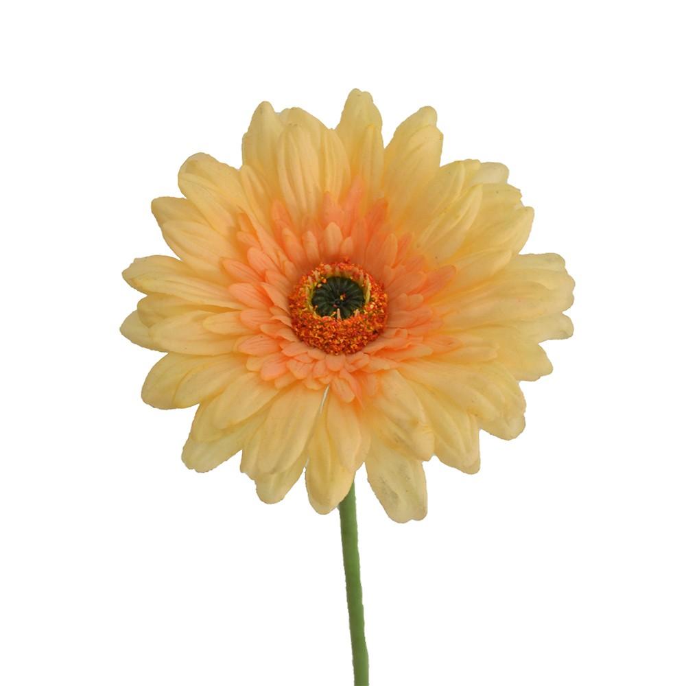 Gérbera Artificial Amarela Toque Natural 62cm