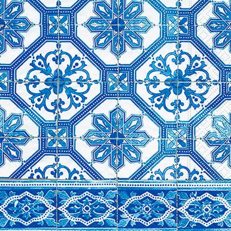 Guardanapo De Papel Decorado Blue Tile