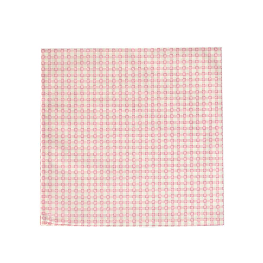Guardanapo de Tecido Quadriculado Rosa