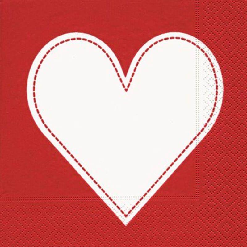 Guardanapo Heart Red