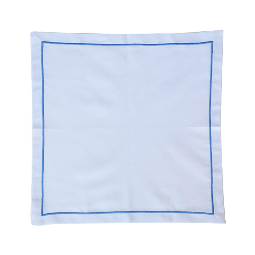 Guardanapo Linho Bordado Azul