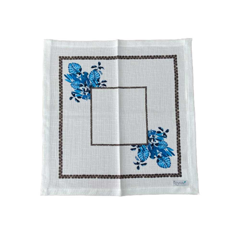 Guardanapo Tecido Costela de Adão Azul 40cm