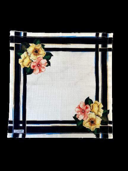 Guardanapo Tecido Flores 40cm