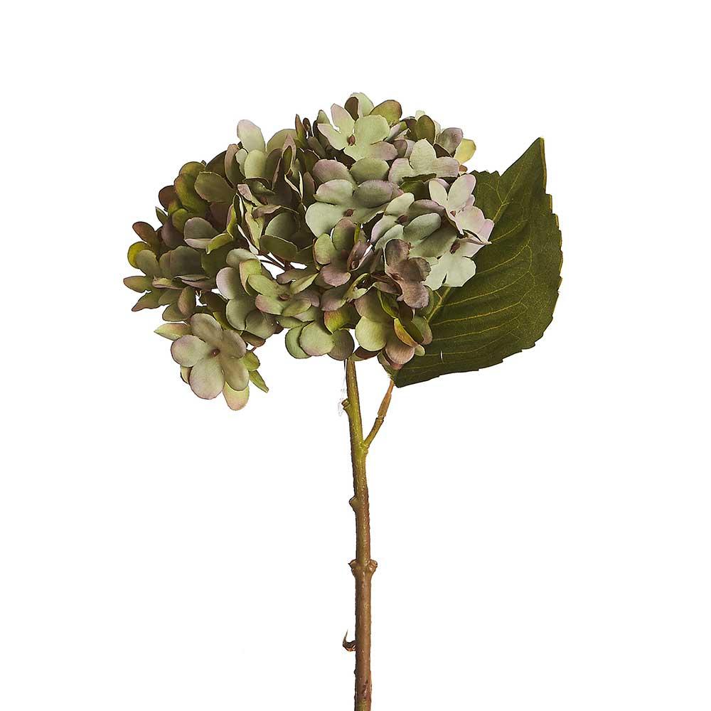 Hortência Artificial Verde Folha Seca 45cm
