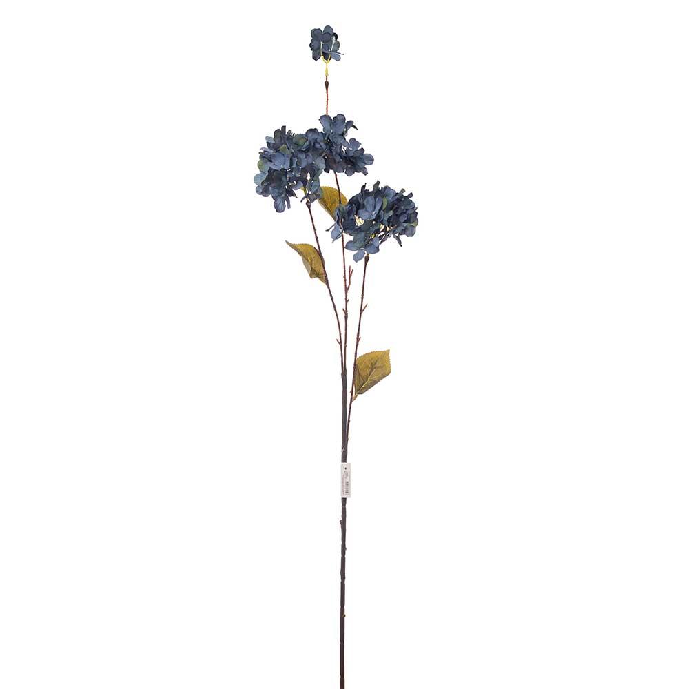Hortência Artificial X3 Envelhecida Azul 95cm